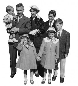 William and Mary Tomc with their children in 1955
