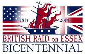 British Raid on Essex - Secondary Logo with Flags
