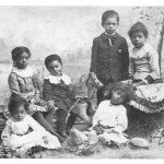 The James Children: (l to r front) Harry, Harriet (l to r back) Helen, Fritz, Willis, Bertha