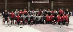 2016-2017 Wesleyan University Women's Hockey Team